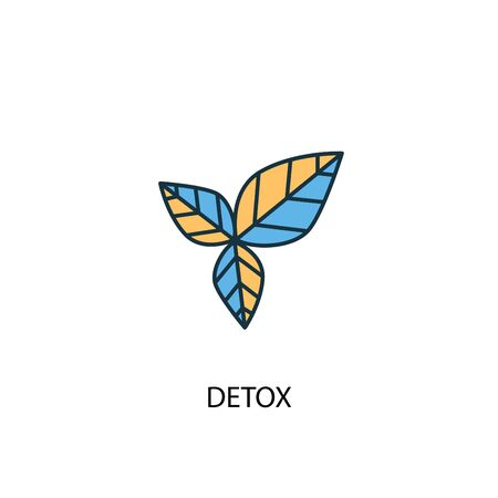 detox concept 2 colored line icon. Simple yellow and blue element illustration. detox concept outline symbol