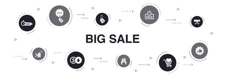 big sale Infographic 10 steps circle design. discount, shopping, special offer, best choice icons