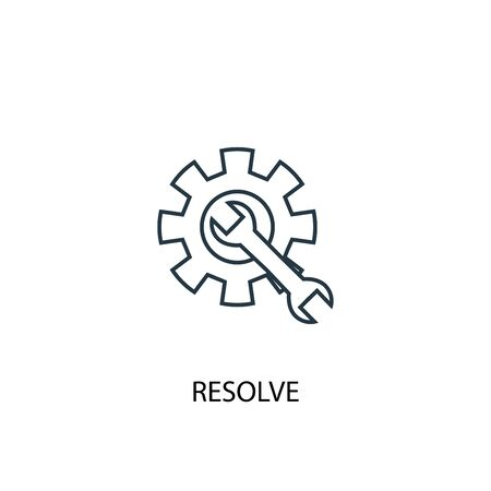 resolve concept line icon. Simple element illustration. resolve concept outline symbol design. Can be used for web and mobile Illustration