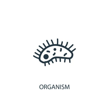 organism icon. Simple element illustration. organism concept symbol design. Can be used for web 向量圖像
