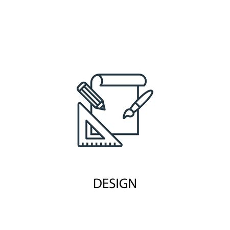 design concept line icon. Simple element illustration. design concept outline symbol design. Can be used for web and mobile UI Çizim