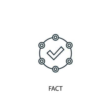 fact concept line icon. Simple element illustration. fact concept outline symbol design. Can be used for web and mobile