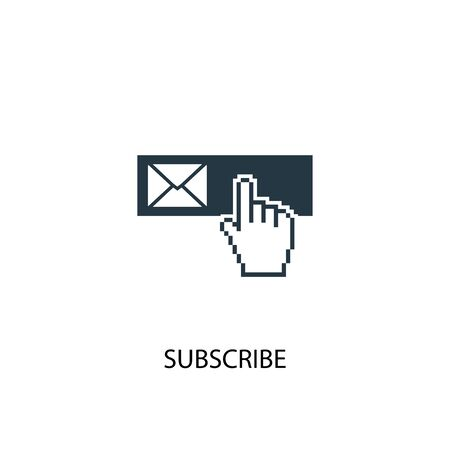 subscribe icon. Simple element illustration. subscribe concept symbol design. Can be used for web and mobile.