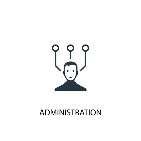 administration icon. Simple element illustration. administration concept symbol design. Can be used for web and mobile. 向量圖像