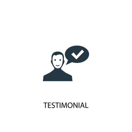 testimonial icon. Simple element illustration. testimonial concept symbol design. Can be used for web and mobile.