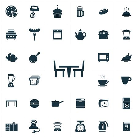 kitchen icons universal set for web and mobile.