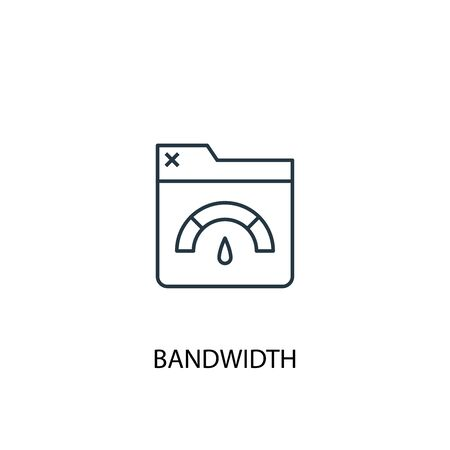 Bandwidth concept line icon. Simple element illustration. Bandwidth concept outline symbol design. Can be used for web and mobile  イラスト・ベクター素材