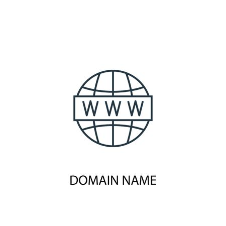 Domain Name concept line icon. Simple element illustration. Domain Name concept outline symbol design. Can be used for web and mobile Иллюстрация