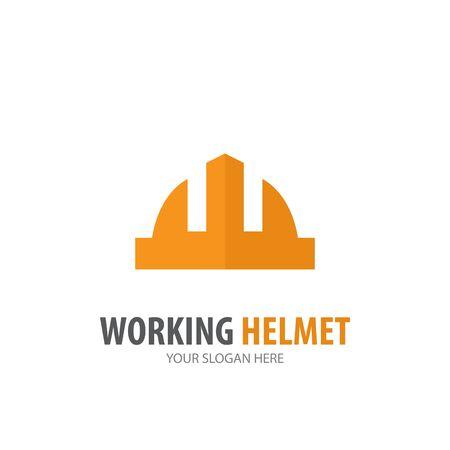 Working helmet logo for business company. Simple Working helmet logotype idea design
