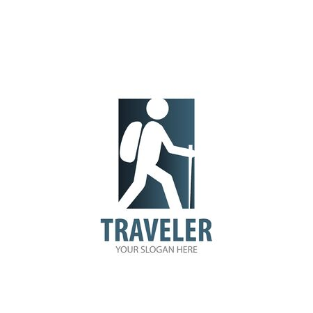 Traveler logo for business company. Simple Traveler logotype idea design