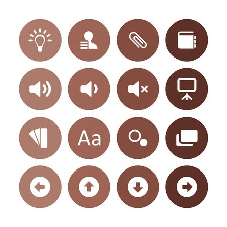 app icons universal set for web and UI Vectores