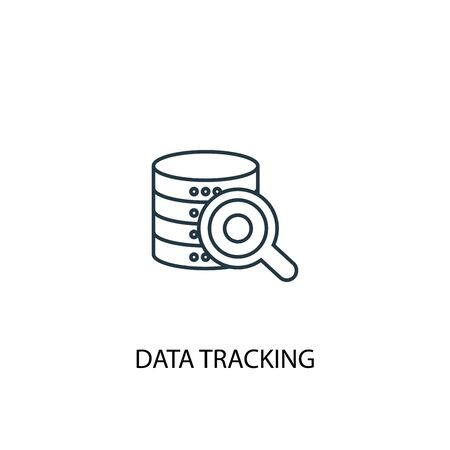 data tracking concept line icon. Simple element illustration. data tracking concept outline symbol design. Can be used for web and mobile Иллюстрация