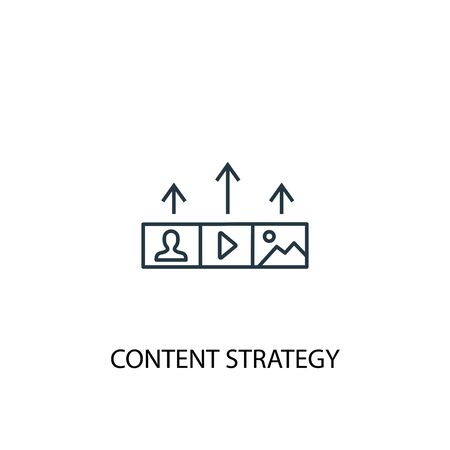 Content strategy concept line icon. Simple element illustration. Content strategy concept outline symbol design. Can be used for web and mobile
