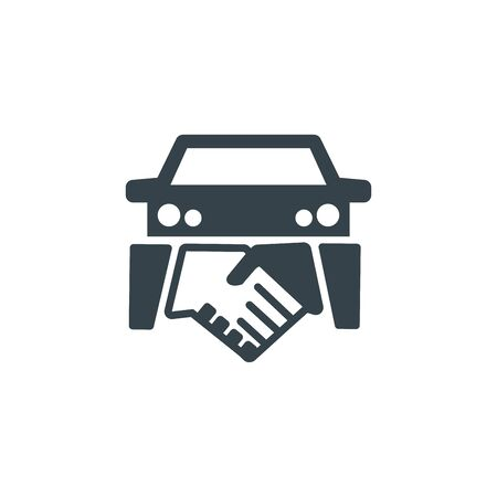 disegno del modello del logo del concetto di affare di auto. Forma di icona di affari. affare auto semplice illustrazione Logo