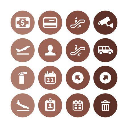 웹 및 UI에 대한 보편적인 공항 아이콘 세트