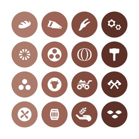 agriculture, farm icons universal set for web and UI Stockfoto - 130456471
