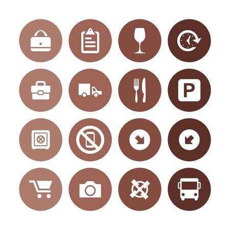 airport icons universal set for web and UI Ilustración de vector