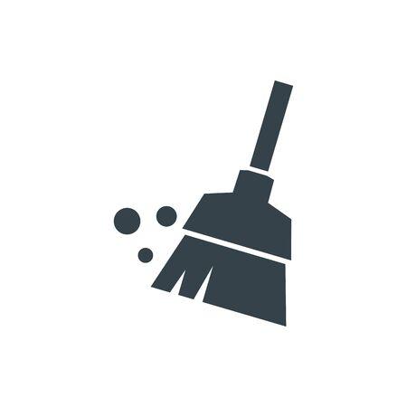 diseño de plantilla de logotipo de concepto de escoba. Forma de icono de logotipo empresarial. escoba simple ilustración Logos