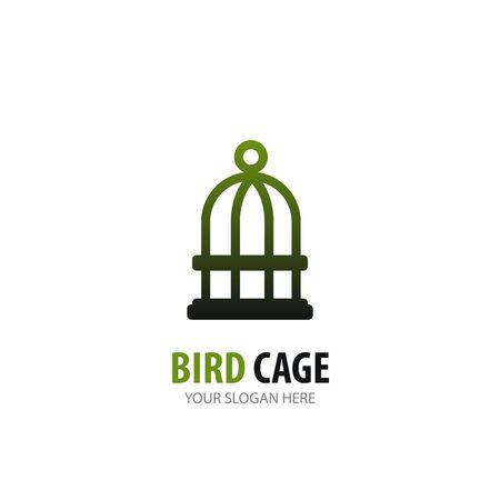 Bird cage logo for business company. Simple Bird cage logotype idea design Ilustracja