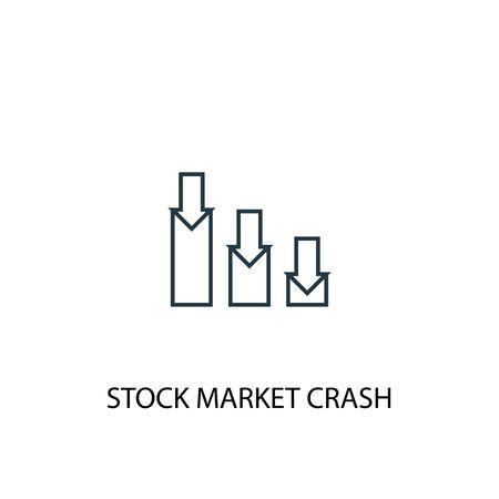 stock market crash concept line icon. Simple element illustration. stock market crash concept outline symbol design. Can be used for web and mobile Stockfoto - 130456650