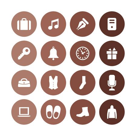 accessories icons universal set for web and UI
