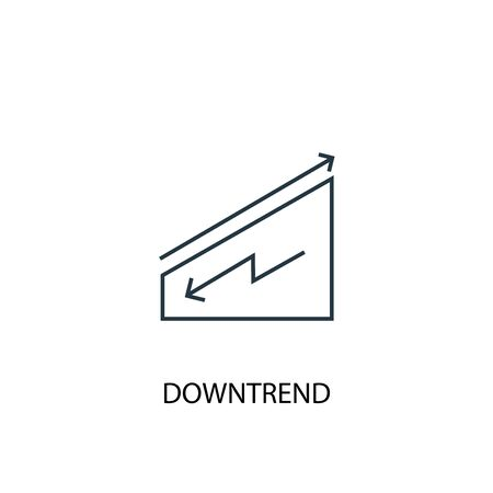 downtrend concept line icon. Simple element illustration. downtrend concept outline symbol design. Can be used for web and mobile
