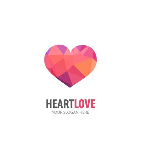 Heart love logo for business company. Simple Heart love logotype idea design