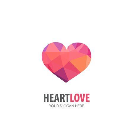 Heart love logo for business company. Simple Heart love logotype idea design