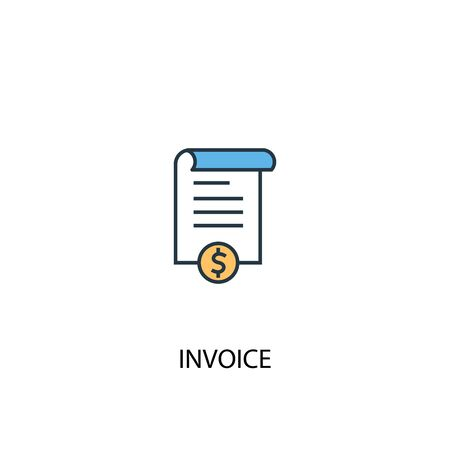 Invoice concept 2 colored icon. Simple blue element illustration. Invoice concept symbol design. Can be used for web and mobile