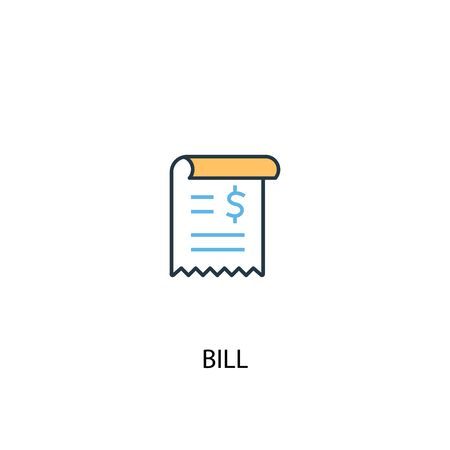 bill concept 2 colored icon. Simple blue element illustration. bill concept symbol design. Can be used for web and mobile