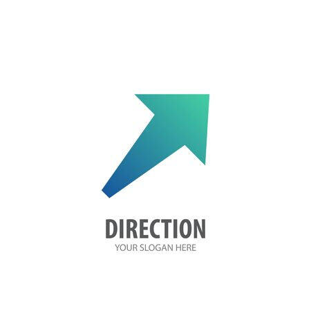 Direction logo for business company. Simple Direction logotype idea design