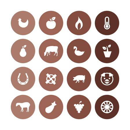 agriculture, farm icons universal set for web and UI Stockfoto - 130456698