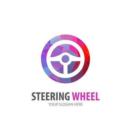 Steering wheel logo for business company. Simple Steering wheel logotype idea design