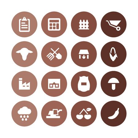 agriculture, farm icons universal set for web and UI