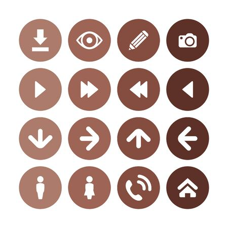 app icons universal set for web and UI 스톡 콘텐츠 - 130456730