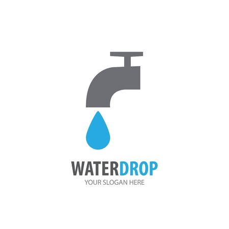 Water tap logo for business company. Simple Water tap logotype idea design