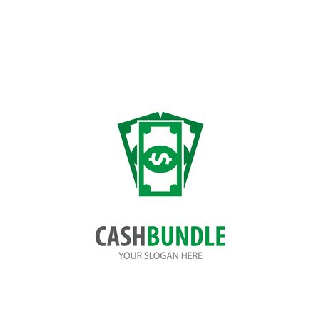 Cash logo for business company. Simple Cash logotype idea design Illustration