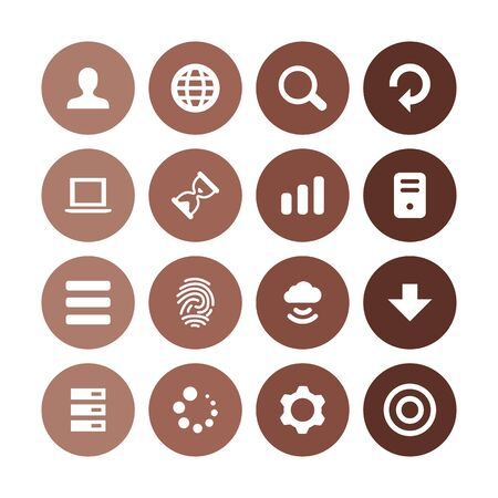 app icons universal set for web and UI Ilustrace