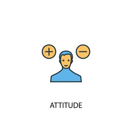 actitud concepto 2 icono de color. Ilustración simple elemento azul. diseño de símbolo de concepto de actitud. Se puede utilizar para la interfaz de usuario web y móvil.