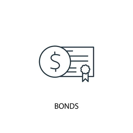 Bonds concept line icon. Simple element illustration. Bonds concept outline symbol design. Can be used for web and mobile