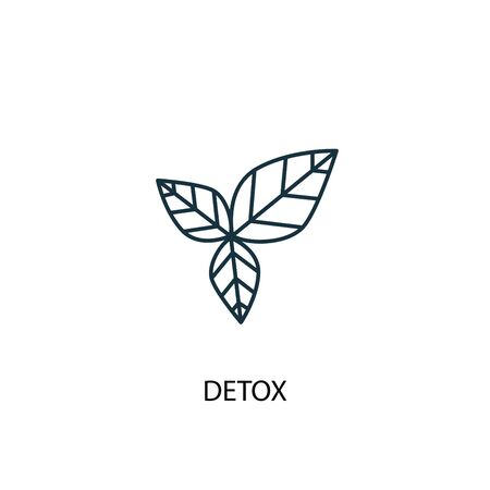 detox concept line icon. Simple element illustration. detox concept outline symbol design. Can be used for web and mobile