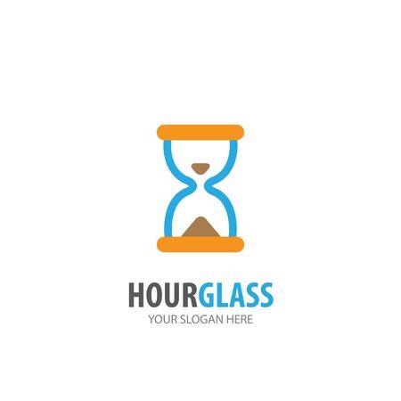 Hour glass logo for business company. Simple Hour glass logotype idea design