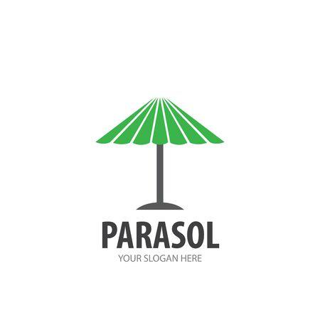 Parasol logo for business company. Simple Parasol logotype idea design Stock Illustratie