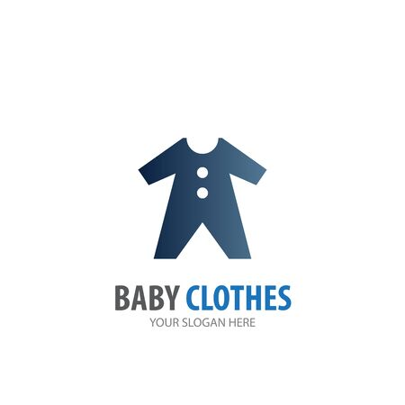 Baby clothes logo for business company. Simple Baby clothes logotype idea design 일러스트