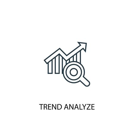 trend analyze concept line icon. Simple element illustration. trend analyze concept outline symbol design. Can be used for web and mobile