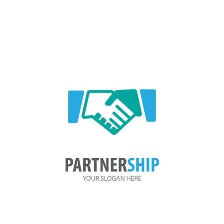 Partnership logo for business company. Simple Partnership logotype idea design