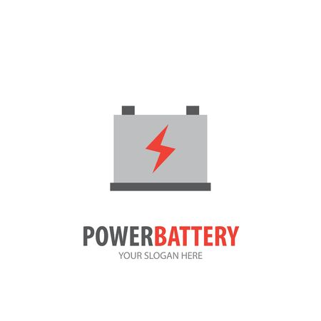 Power battery logo for business company. Simple Power battery logotype idea design