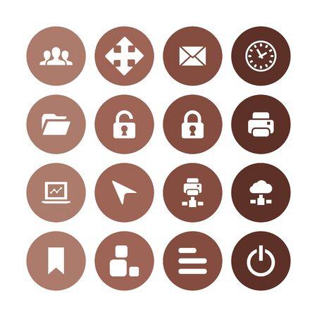 app icons universal set for web and UI Illusztráció