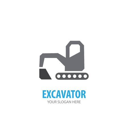 Excavator logo for business company. Simple Excavator logotype idea design