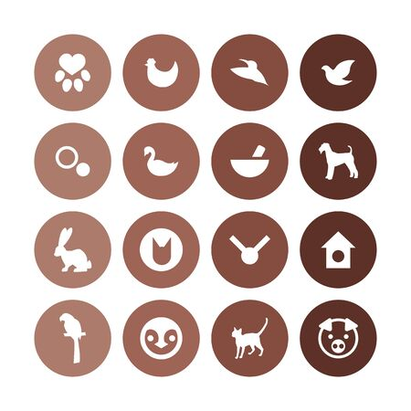 animals, pets icons universal set for web and UI